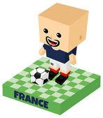 франция футбол характер — Cтоковый вектор