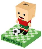 символ футбол португалия — Cтоковый вектор