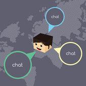 World chat network — ストックベクタ