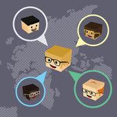 世界聊天网络 — 图库矢量图片