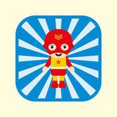Little hero cartoon — Stock Vector