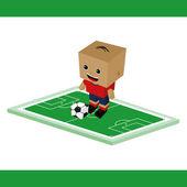 Soccer football cartoon — Stock Vector