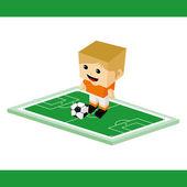 Fußball-fußball-cartoon — Stockvektor