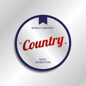 Country music — Stock Vector