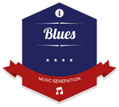 Blues music — Stock Vector