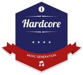 Hardcore music — Stock Vector