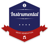 Instrumental music — Stock Vector