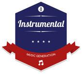 Instrumental music — Stock Vector