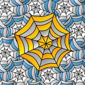 Spinnennetz — Stockvektor