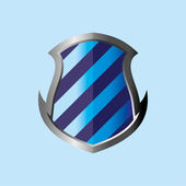 Blue theme shield — Stock Vector