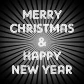 Christmas retro greeting — Stock Vector