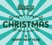 Christmas retro greeting — Vector de stock
