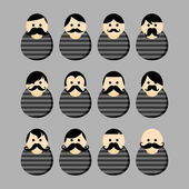 Whiskers prisoner user picture — Stock Vector
