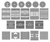 Native american art pattern — Stock Vector