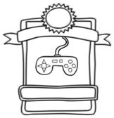 Game play label — Stockvector
