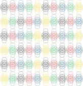 Seamless fashion watch pattern — Stock Vector