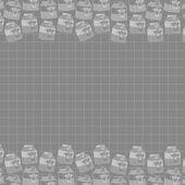 Milk art vintage colour pattern — Stock Vector