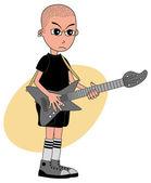 Guitarrista de rock — Vetor de Stock