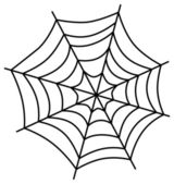 Spiderweb art illustration — Stock Vector
