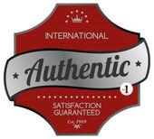 Authentic red label — Stok Vektör