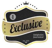 Exclusieve label — Stockvector