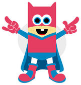 Little superhero character — Stock Vector
