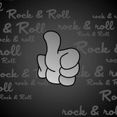 Rock and roll hand gesture — Stock Vector