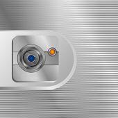 Line lens camera background — Stock Vector