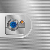 Line lens camera background — Cтоковый вектор