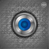 Shutter lens technology theme — Stock Vector