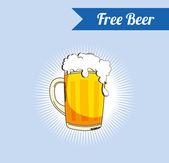 Free beer background — Stock Vector