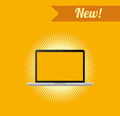 Dizüstü Laptop — Stok Vektör