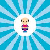 Adorable flat cartoon hero — Stock Vector