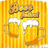 Beer festival page template — Stock Vector