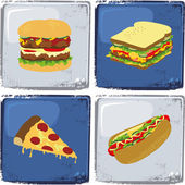 Junk food set — Stockvektor