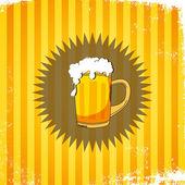 Beer retro page — Stock Vector