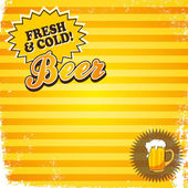Fresh and cold beer — Stock Vector
