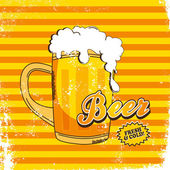 Beer theme page — Stock Vector