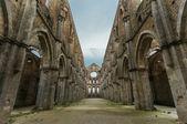 San Galgano Abbey ruins — Stock Photo
