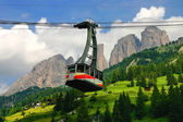 Alpine cableway — Stock Photo