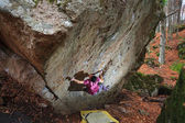 Bouldering in Tuscany — Stock Photo