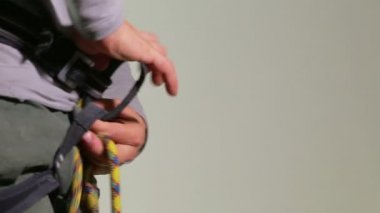 Climber tying with a Figure of Eight knot - Part 2 — Stock Video