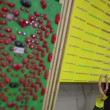 Climber training at the campus board — Stock Video