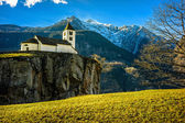 Church above precipice — Stock Photo