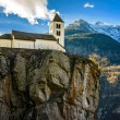 Church at the top of a cliff — Stock Photo