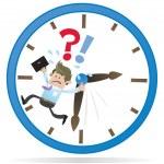 zakelijke buddy is running out tijd — Stockvector