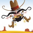 Crazy Gunslinger — Stock Vector