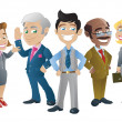 Stock Vector: Group of Business People