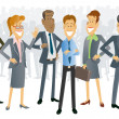 Постер, плакат: Business People Cartoons