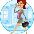 Business Girl  — Stock Vector